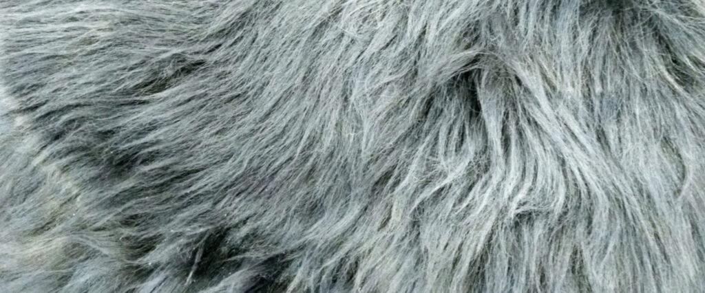 grey fur throw