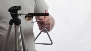 a tripod percussion stand